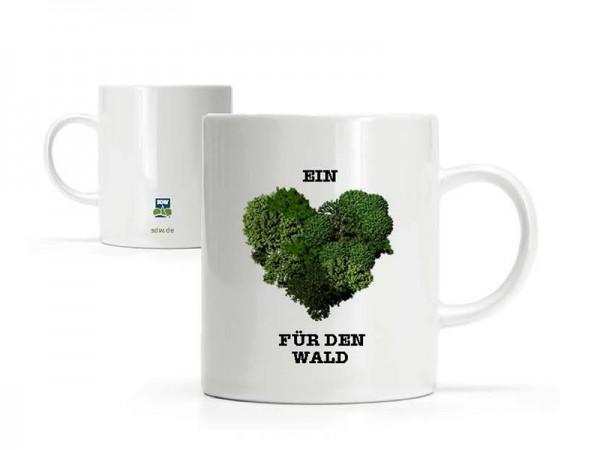 """Tasse """"Ein Herz für den Wald"""""""
