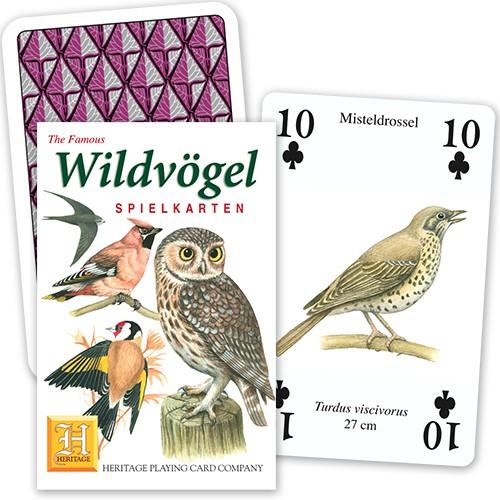 Spielkarten Wildvögel